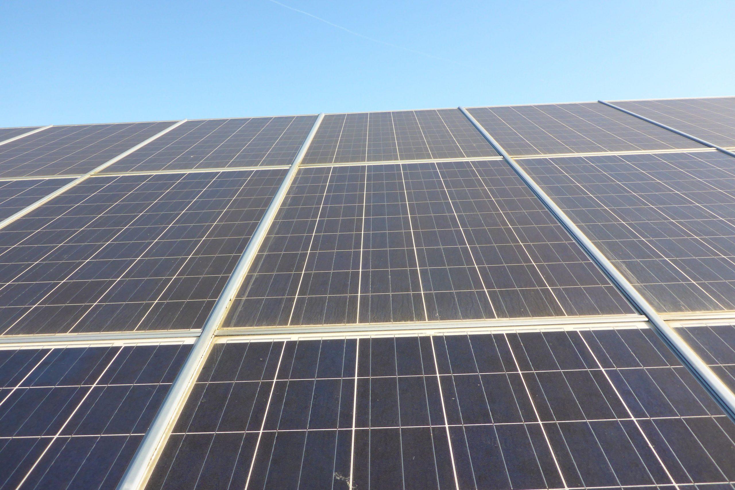 verschmutztes Photovoltaikmodul